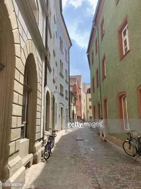 シティストリート, レーゲンスブルク - レーゲンスブルク ストックフォトと画像