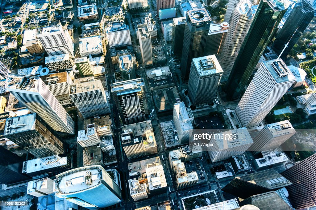 City Streets of Houston, Texas from Above : Stock Photo