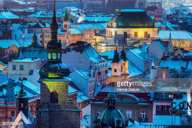 city theater in pilsen - plzeň stock pictures, royalty-free photos & images