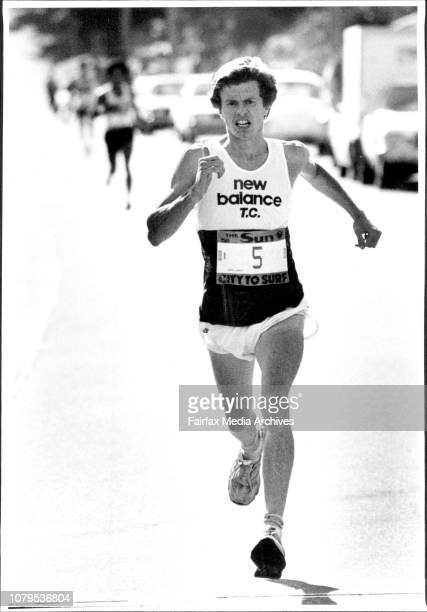 City to Surf Start winner Hugh Jones of England***** welljudged race in 4148 minutes 12 seconds clear of Japan's Masami Otsuka with Victoria's Steve...