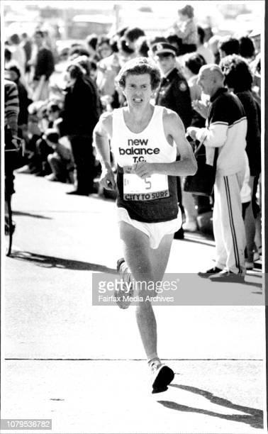 City to Surf Start winner Hugh Jones of EnglandHugh Jones taken the lead 1st woman to cross the line is Canadian August 04 1985