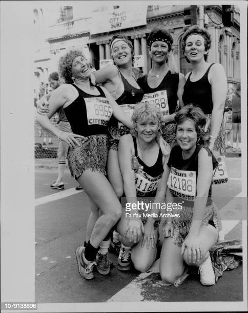 City To Surf The Hunter Mash Mouse Mariets from Newcastle From left to right Animal Secondhand Rose Hot Lips Strawbs Monker Sugar Ray August 4 1985