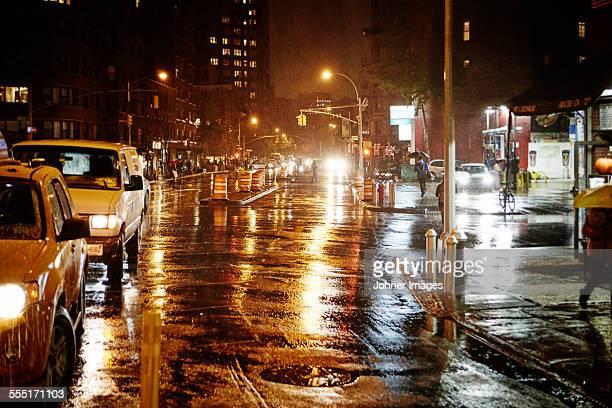City traffic at night