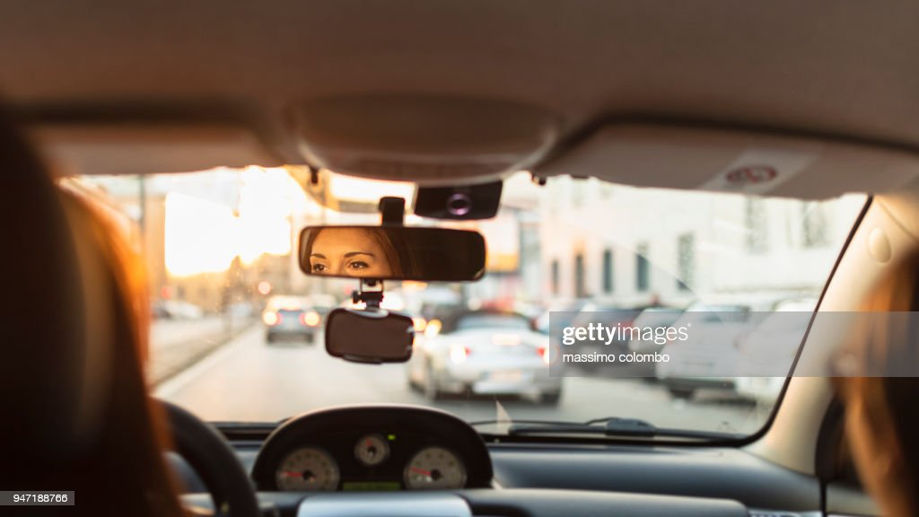 City traffic by car : Stock Photo