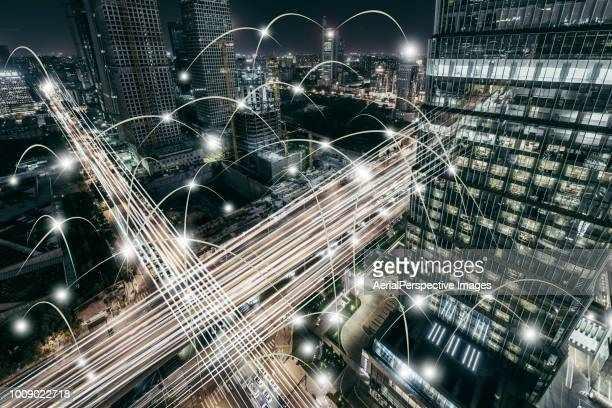city traffic concept - cryptocurrency stock photos and pictures