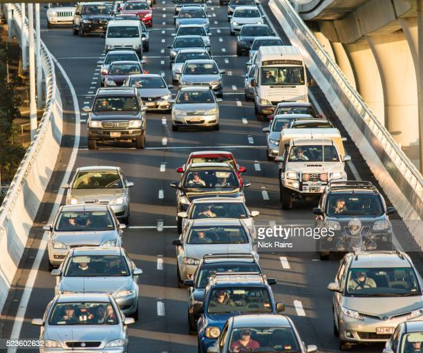 city traffic congestion - traffic stock pictures, royalty-free photos & images