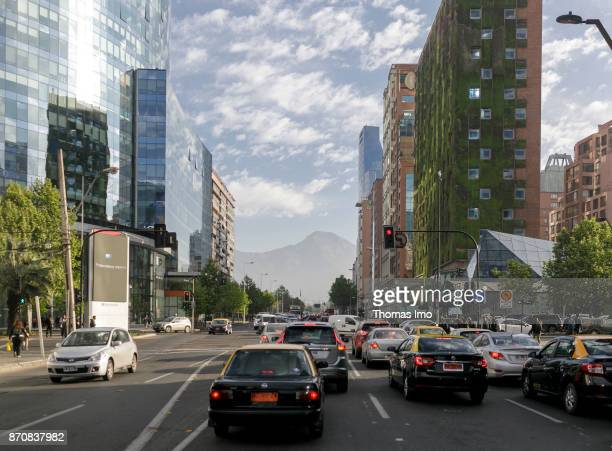 City traffic in Santiago de Chile on October 16 2017 in Santiago de Chile Chile