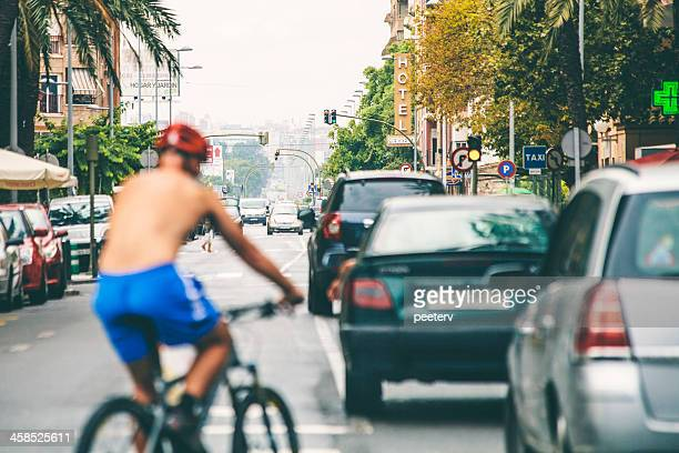 city traffic. - castellon de la plana stock pictures, royalty-free photos & images