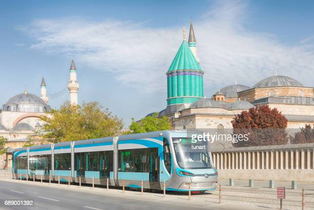 city transportation in the city of konya, turkey - central anatolia stock photos and pictures