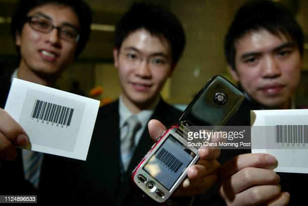 City U eBusiness Projects Exhibition Kowloon Tong Pictured is a Mobile Barcode Recognition and Management System designed by Daniel Chui Kaihin Ivan...