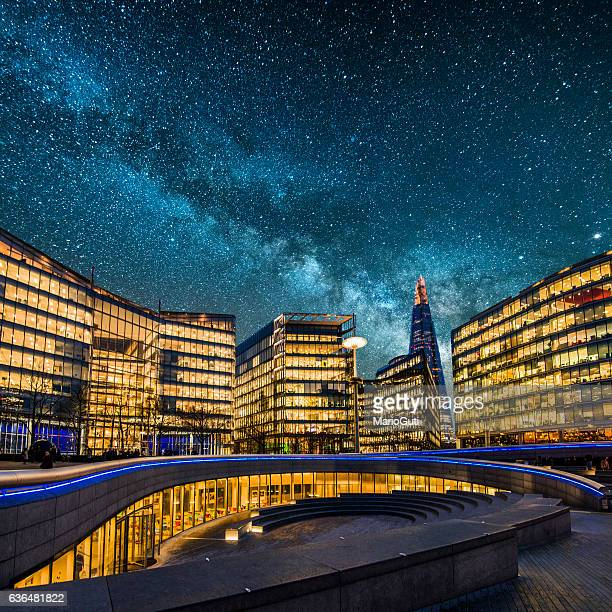 City under the Milky Way
