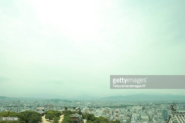city view from matsuyama castle - matsuyama ehime stock pictures, royalty-free photos & images