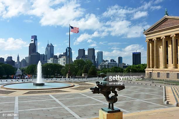 Blick auf die Stadt von Philadelphia Museum of Art