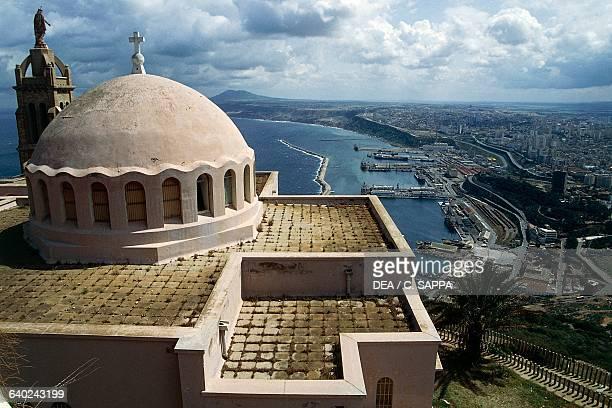 City view from the Chapel of Santa Cruz on Mount Murdjajo Oran Algeria