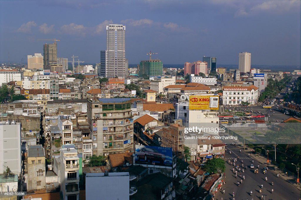 City view, Ho Chi Minh City (Saigon), Vietnam, Indochina, Asia : Foto de stock