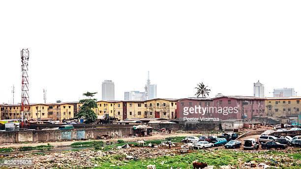 街の眺め-ラゴス,ナイジェリアます。