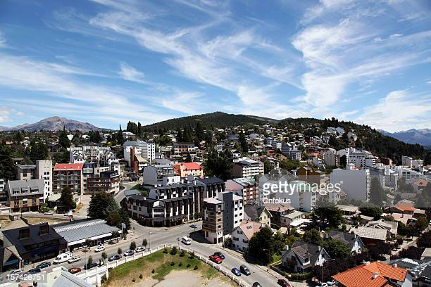 city view of bariloche, argentina - bariloche stock pictures, royalty-free photos & images