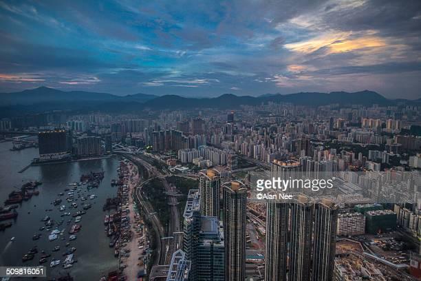 city view of hong kong - nee nee fotografías e imágenes de stock