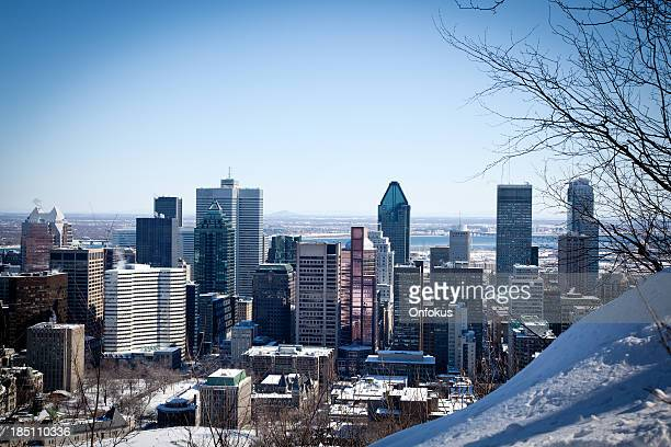 City view of Montreal in winter