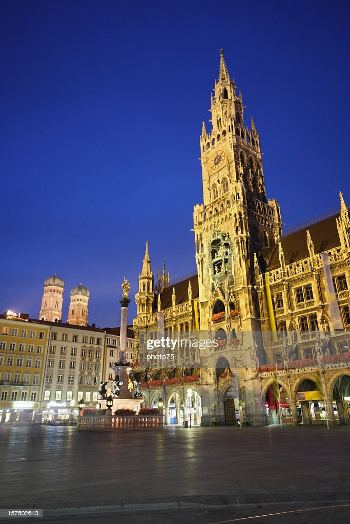 City view of Munich Marienplatz : Stock Photo