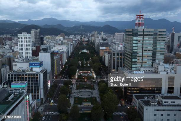 City view of Odori Park ahead of the Rugby World Cup on September 18, 2019 in Sapporo, Japan.