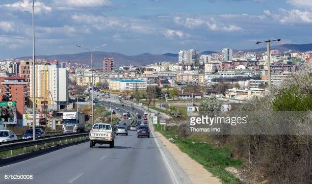 City view of Pristina on March 30 2017 in Pristina Kosovo
