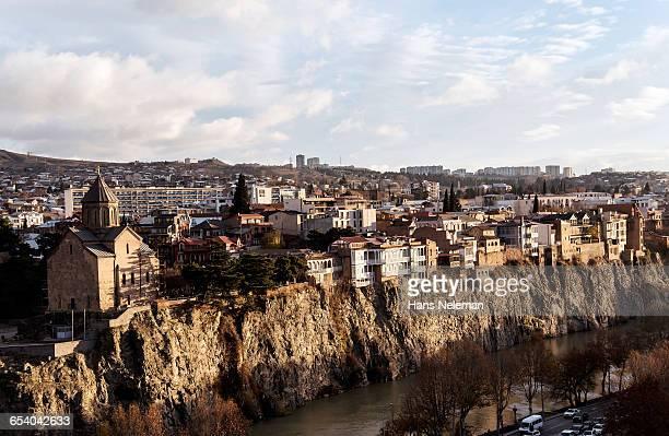city view of tbilisi - 国 ジョージア ストックフォトと画像
