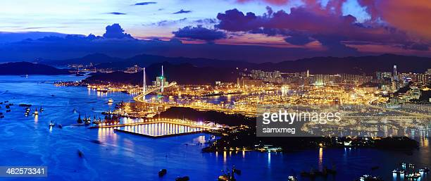 City view of Terminals in Kwai Tsing, Hong Kong