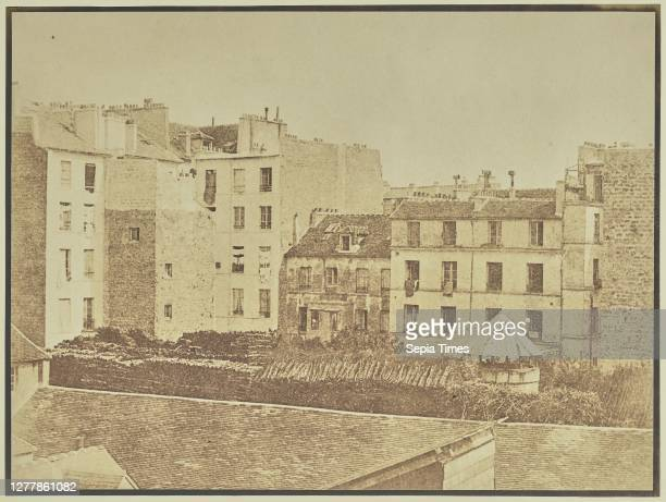 City View over Rooftops; Attributed to Hippolyte Bayard , or Attributed to William Henry Fox Talbot ; about 1840–1849; Salted paper print; 17.3 ×...