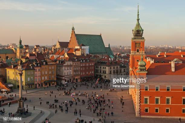 city view - warsaw stock pictures, royalty-free photos & images