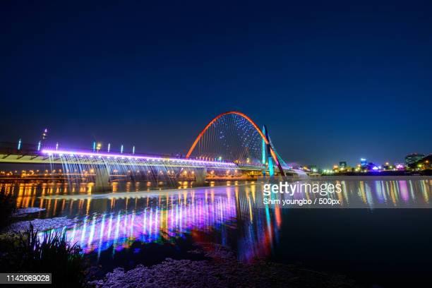 city view - daejeon stockfoto's en -beelden