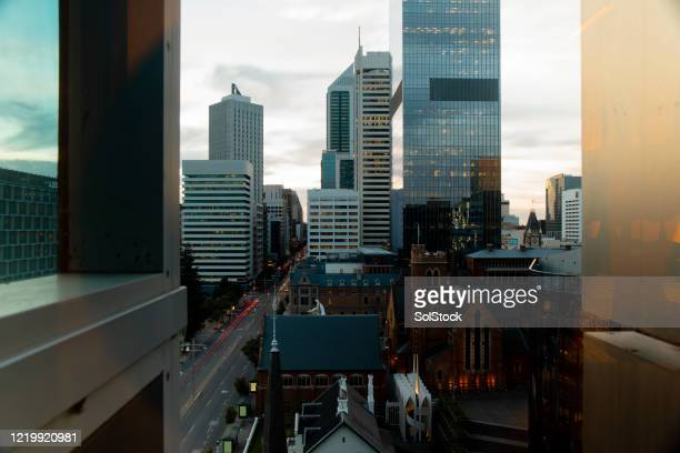 city view - perth australia stock pictures, royalty-free photos & images