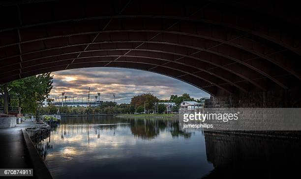 City view with Melbourne Cricket ground, Melbourne, Victoria, Australia