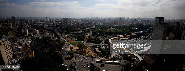 City views from the air ahead of the FIFA 2014 World Cup Brazil on December 16 2013 in Sao Paulo Brazil