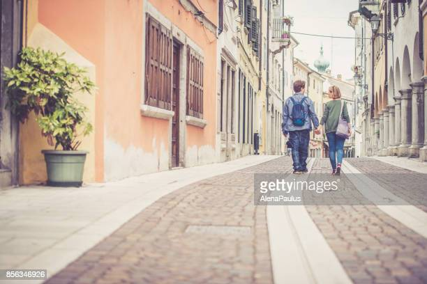 city walk, italy - gorizia stock pictures, royalty-free photos & images