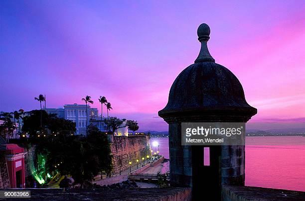 City Wall at night, San Juan, Puerto Rico