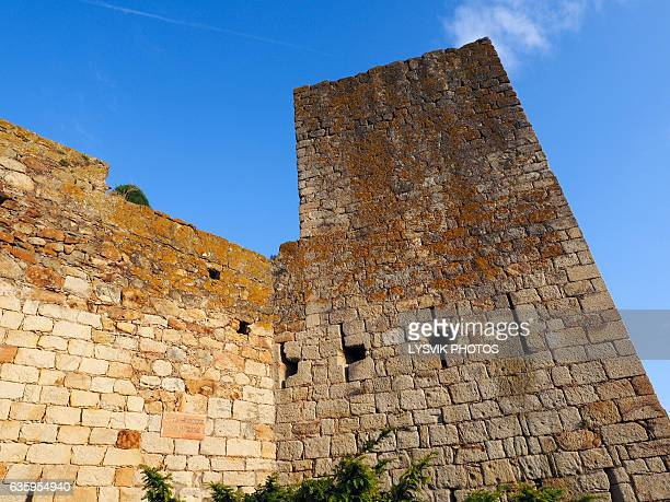 City walls and tower of Castle of Pals, Catalonia