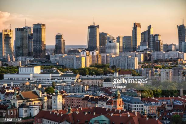 city warsaw - warsaw stock pictures, royalty-free photos & images