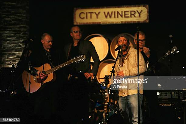 City WInery Propietor Michael Dorn introudes the Live Rehearsal Show for The Music of David Bowie show at City Winery on March 30 2016 in New York...