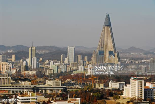 city with over crowded multi storied buildings Pyongyang Democratic Republic of North Korea Pyongyang Democratic Republic of North Korea