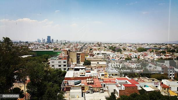 city with sky background - guadalajara mexico stock pictures, royalty-free photos & images