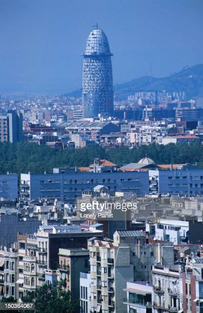 City with Torre Agbar in distance.