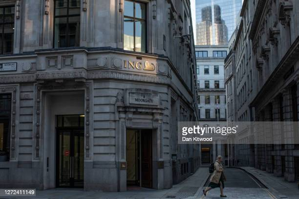 City workers in the square mile on September 14, 2020 in London, England. Many companies with headquarters in London's city centre have only a...