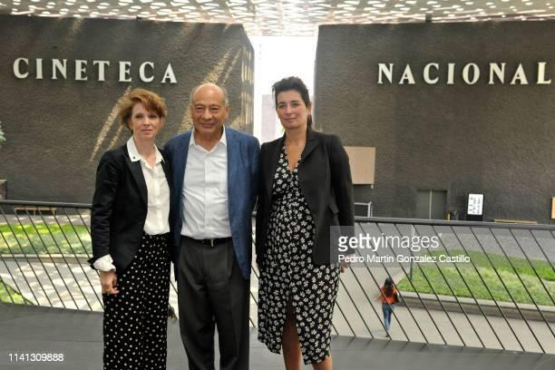 Ariane Toscan du Plantier Alejandro Pelayo Rangel and Gaumont director Sidonie Dumas Seydoux attends a press conference at the Cineteca Nacional on...