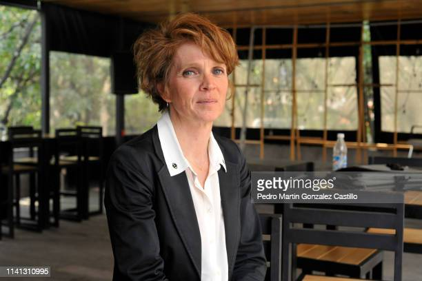 Ariane Toscan du Plantier attends a press conference at the Cineteca Nacional on April 8 2019 in Mexico City Mexico