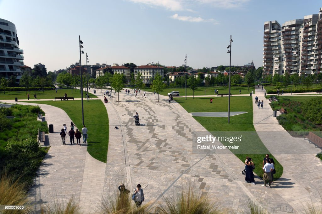 CityLife in Mailand mit Park : Stock-Foto