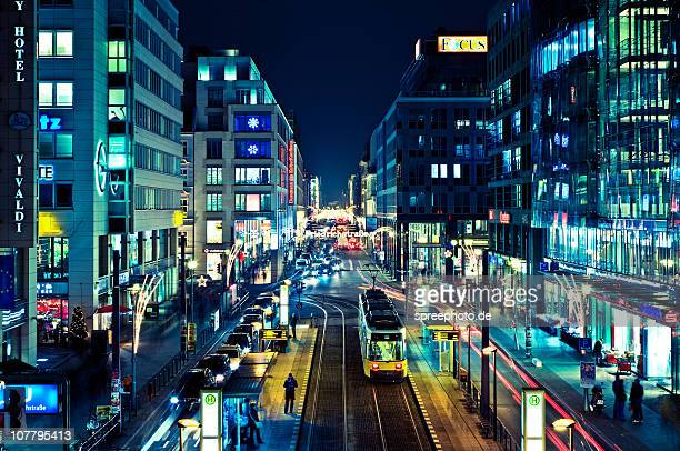 citylights - berlin stock pictures, royalty-free photos & images