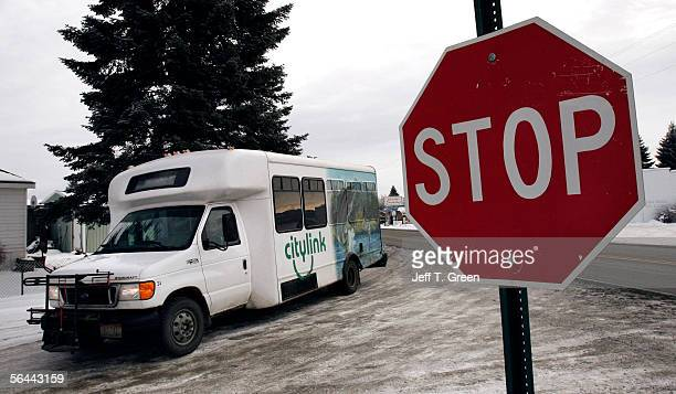 Citylink bus driver Sue Botham arrives at the Tensed Community Center to pick up a passenger on the Coeur d' Alene Indian Reservation December 15...