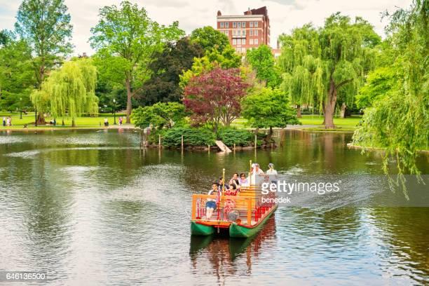 cityPeople take boat ride in Boston Public Garden Boston Massachusetts
