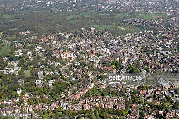 cityscape, aerial view - camden london stock pictures, royalty-free photos & images